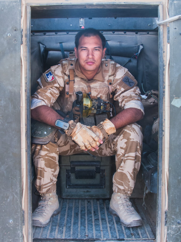 London photographer Andy Barnham while serving as an officer in the British Army