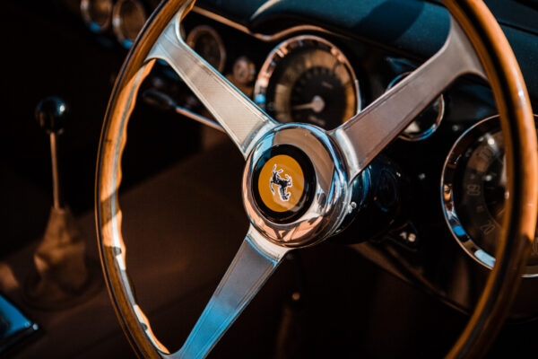 Ferrari 166 MM Berlinetta Le Mans steering wheel with upside down Prancing Horse