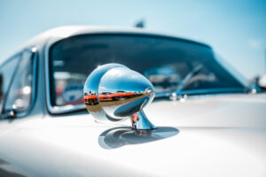 Mercedes Benz 300SL Gullwing wing mirror with reflection of, another, 300SL