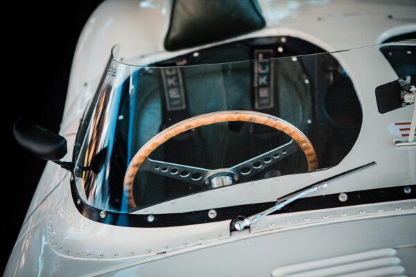 Jaguar D Type cockpit and driver's seat