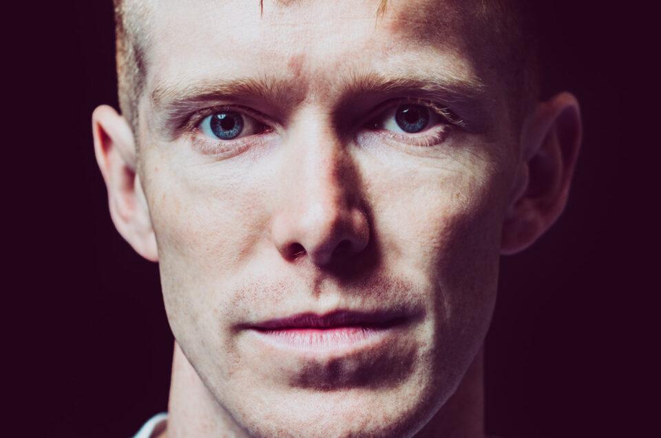 Close up colour portrait of British Olympian Tom Bosworth
